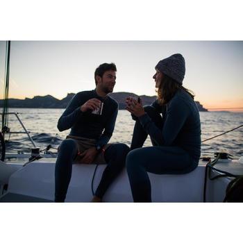 Robuuste herenbermuda voor zeilen Sailing 100 grijs