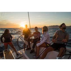 Women's Waterproof Windproof Sailing Jacket 100 - White