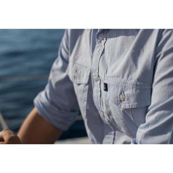 Overhemd voor zeilen heren 100 blauw