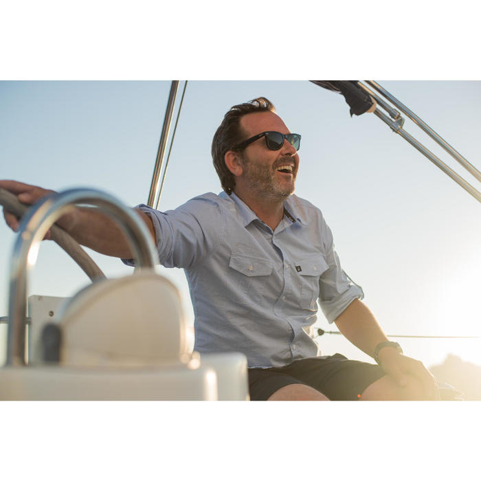 Chemise bateau homme SAILING 100 bleu