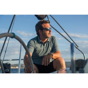 Robuuste herenbermuda voor zeilen Sailing 100 marineblauw