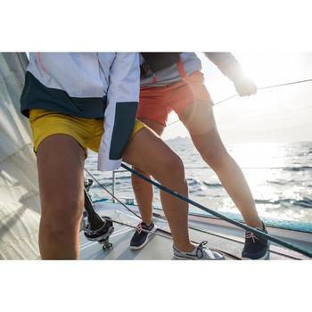 女款皮革帆船鞋100-深藍色