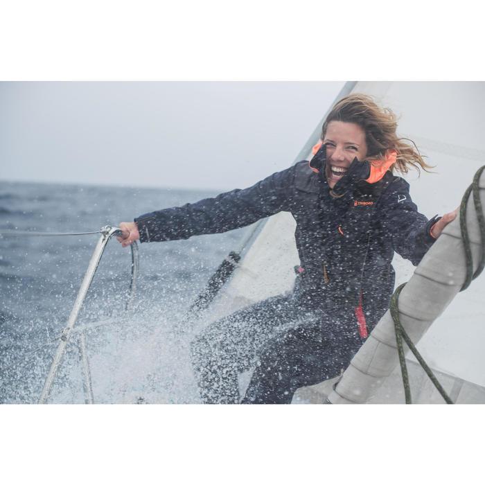 Salopette imperméable de voile femme SAILING 500 Navy