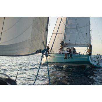 Chaussures adhérente de bateau femme SAILING 500 Navy