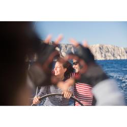 Damesshirt met lange mouwen Sailing 100 blauw