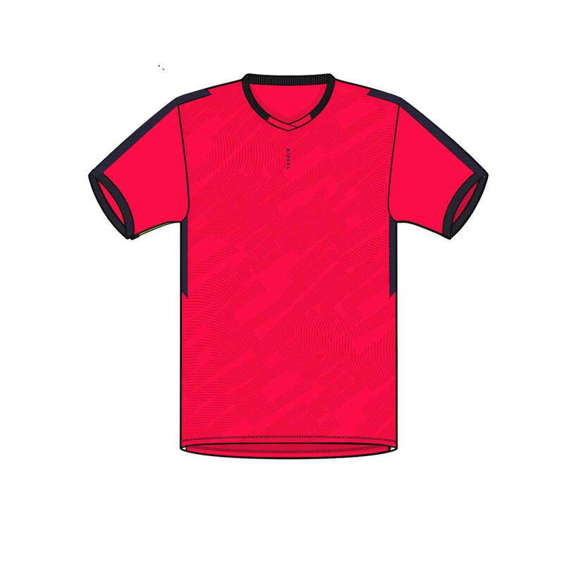 DĚTSKÉ SOUPRAVY NA TRÉNINKY/ZÁPASY ZA TEPLÉHO POČASÍ Fotbal - FOTBALOVÝ DRES F520 RŮŽOVÝ KIPSTA - Fotbalové oblečení
