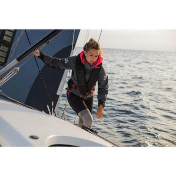 Blouson de régate bateau femme Race 500 gris rose