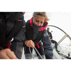 Zeiljas voor dames voor wedstrijdzeilen Race 500 grijs/roze
