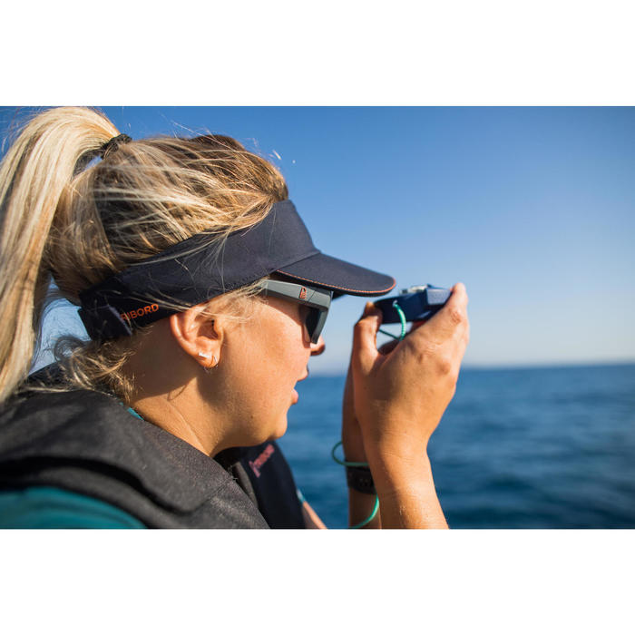 Zonneklep voor zeilen heren dames kinderen Sailing 500 zwart