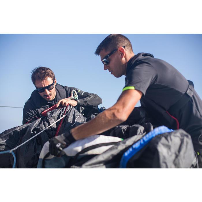 Polo met korte mouwen voor wedstrijdzeilen heren Race 500 zwart