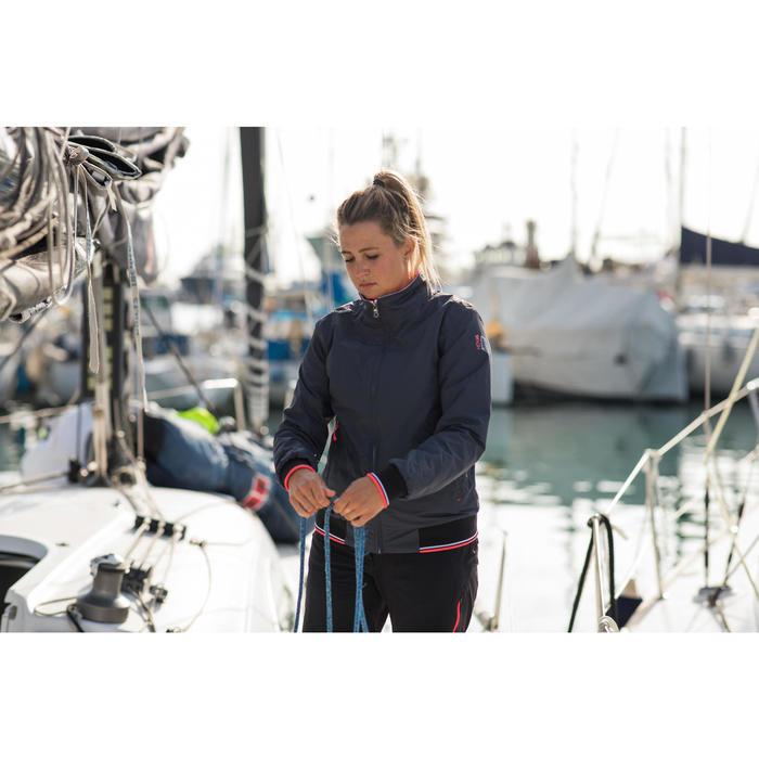 Blouson de régate bateau femme Race 100 gris foncé