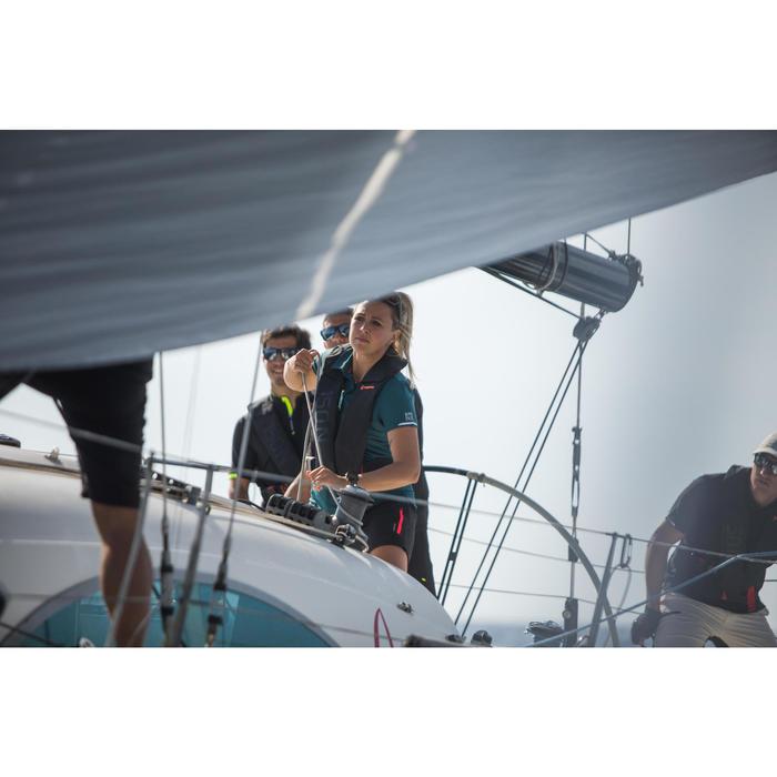 Polo met korte mouwen voor wedstrijdzeilen dames Race 500 petrol