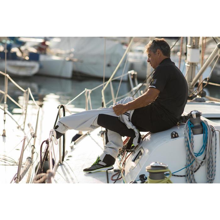 Chaussures de régate bateau mixte Race gris jaune