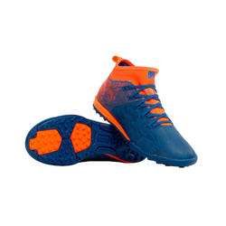 Kids' Hard Ground Football Boots Agility 900 HG - Blue/Orange