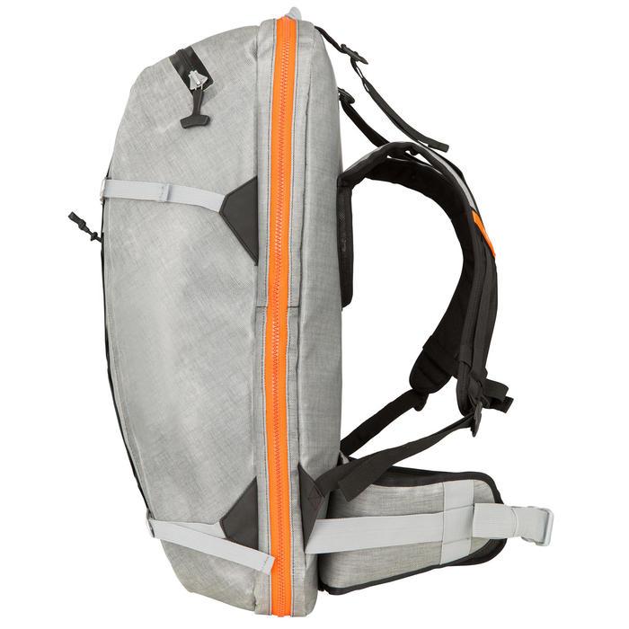 Waterdichte rugzak voor supboard IPX7 omvormbaar 120 40 grijs