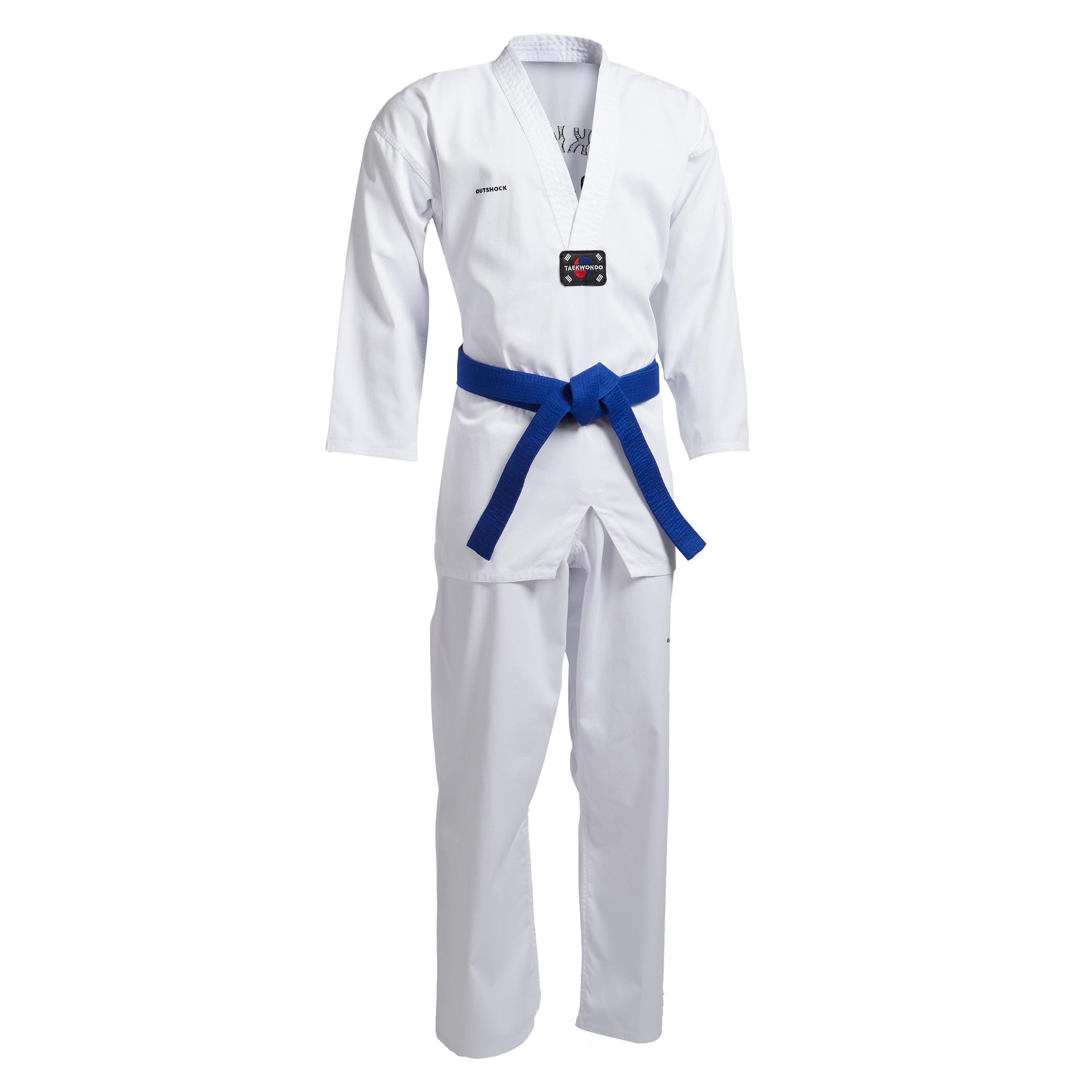 Taekwondo-Anzug 500 Erwachsene| LIEFERUNG OHNE GÜRTEL | Sportbekleidung > Sportanzüge > Taekwondo-Anzüge | Outshock