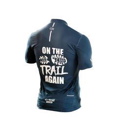 T-shirt met korte mouwen voor trail heren grijs