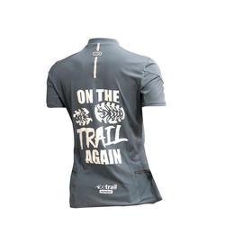 T-shirt voor trail running dames grijs