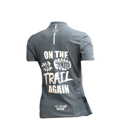Tee shirt manches courtes trail running femme gris