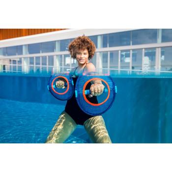 Paire d'haltères aquatiques Pullpush mesh Aquagym-Aquafitness bleu orange