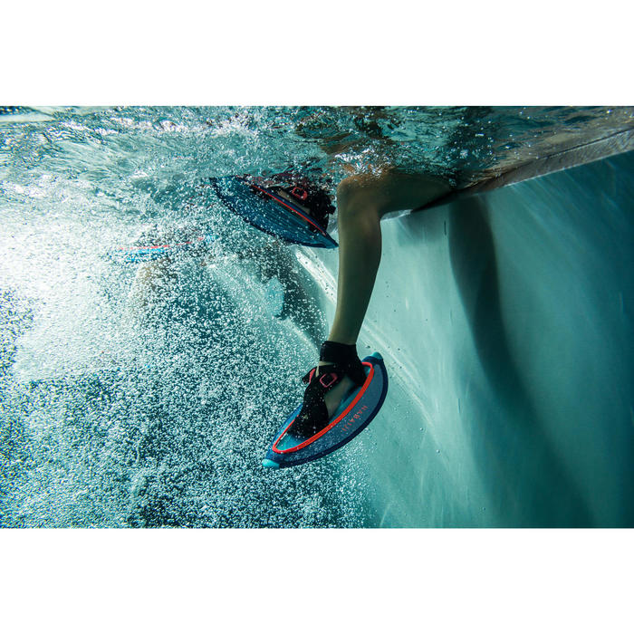 Paire d'haltères aquatiques Pullstep mesh Aquagym-Aquafitness bleu orange