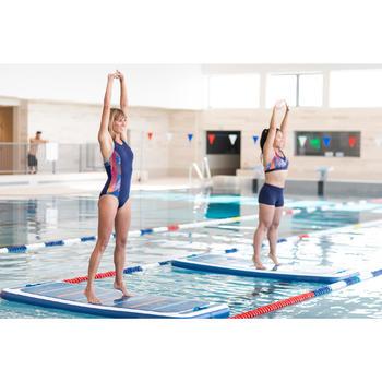 女款水中健身游泳短褲ANNY-藍色