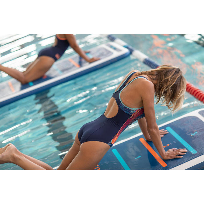 Women's Aquafitness one-piece swimsuit Lena - blue Vib