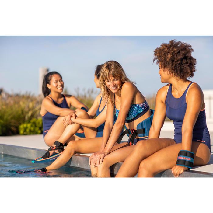 Maillot de bain une pièce d'Aquafitness femme Lou roni bleu