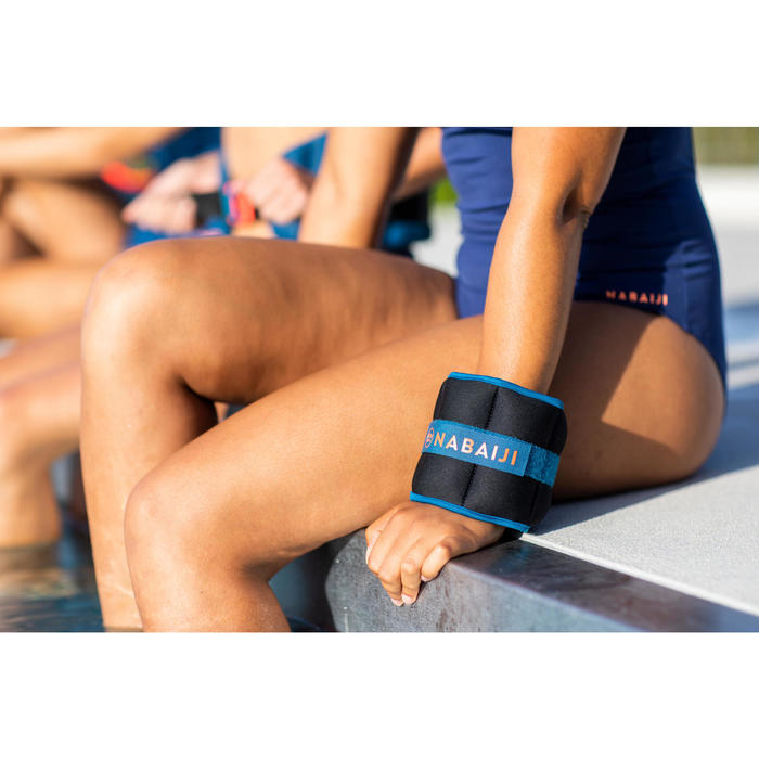 Bracelets Lestés d'Aquafitness noir orange. 2*0,5 KG
