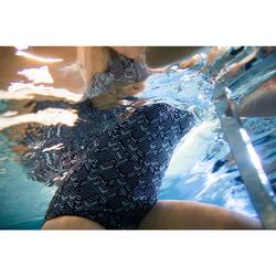 Maillot de bain une pièce d'Aquafitness femme Lou roni noir