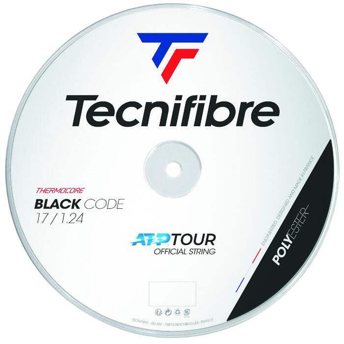 CORDAGE DE TENNIS MONOFILAMENT BLACK CODE 1.24mm NOIR 200m