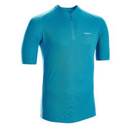 Fietsshirt met korte mouwen voor heren Essential blauw