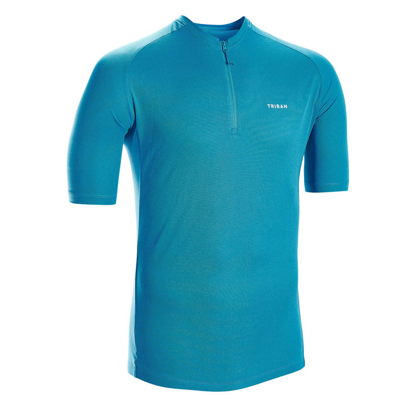 Short-Sleeved Road Cycling Jersey Essential - Blue