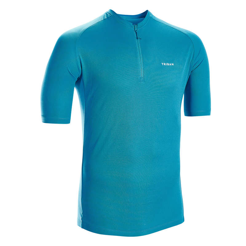MEN WARM WEATHER ROAD CYCLING APPAREL Cycling - Short-Sleeved Jersey Essential TRIBAN - Cycling