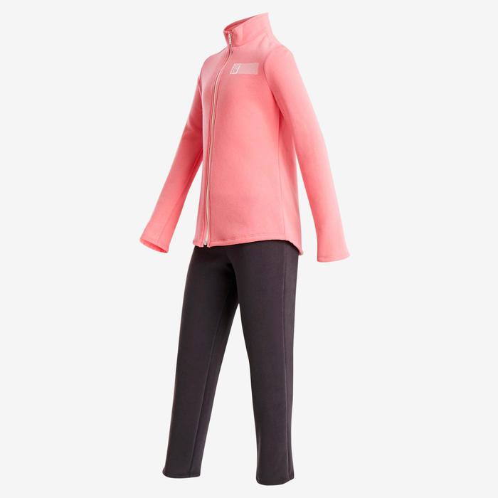 Survêtement Ensemble chaud 100 fille GYM ENFANT rose imprimé Warmy Zip