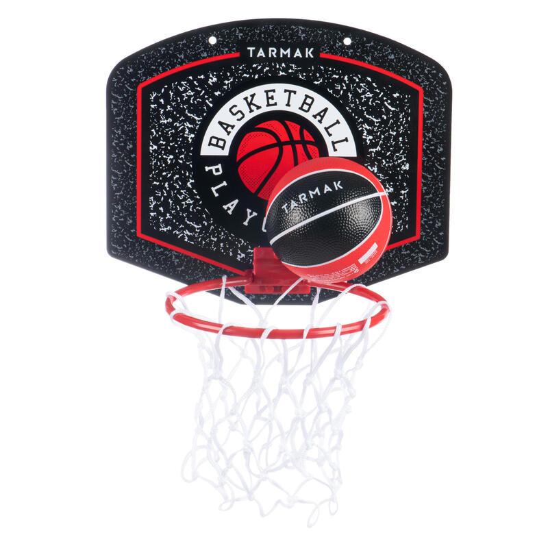 Mini panier de basket enfant/adulte SK100 Playground Noir Rouge. Ballon inclus.