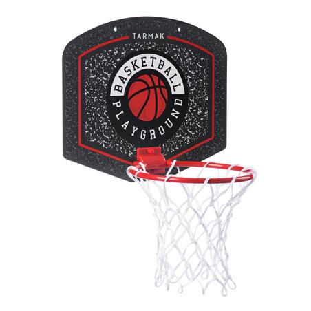 Keranjang Basket Mini SK100 Playground - termasuk bola Hitam/Merah.