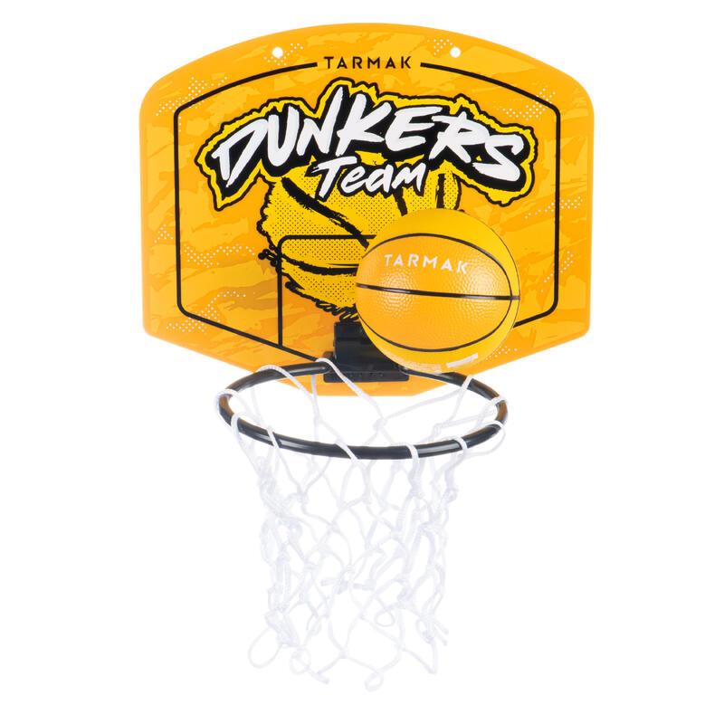 Mini panier de basket enfant/adulte SK100 Dunkers Jaune. Ballon inclus.