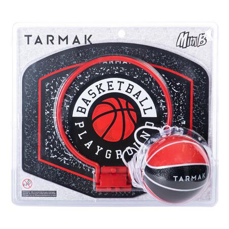 "Bērnu/pieaugušo mini basketbola vairogs ""SK100Playground"", melns/sarkans."