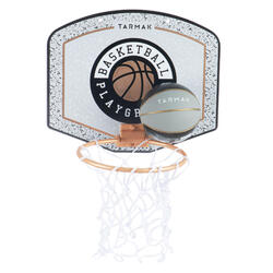 Minibasketbalbord voor kinderen/volwassenen SK100 Playground grijs Incl. bal.