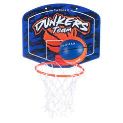 Minibasketbalbord voor kinderen/volwassenen SK100 Dunkers blauw. Incl. bal.