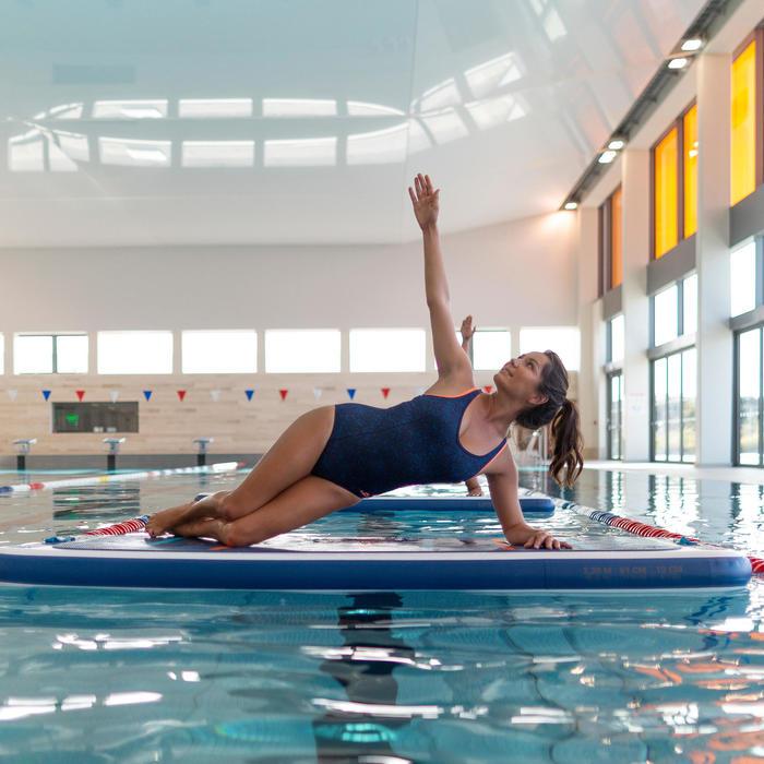 Maillot de bain une pièce d'Aquafitness femme Lena bleu orange