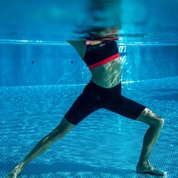 Bas de maillot de bain short jammer Aquafitness femme Anna noir