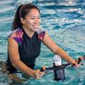 PLAVKY A VYBAVENÍ NA AQUAGYM, AQUABIKE Aqua aerobic, aqua fitness - NOSIČ NA LÁHEV ČERNO-ORANŽOVÝ NABAIJI - Doplňky na aquafitness