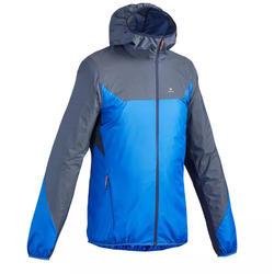 Giacca antivento montagna uomo FH500 HELIUM WIND grigio azzurra