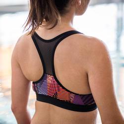 Haut de maillot de bain d'Aquafitness femme Lou vib rose