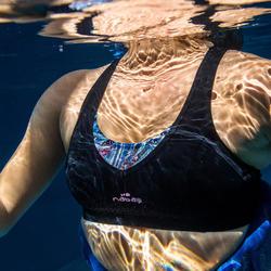 Haut de maillot de bain Aquafitness femme Lou noir mem