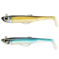 COMBO leurres shad texan anchois ANCHO 120 18gr ayu/bleu pêche en mer