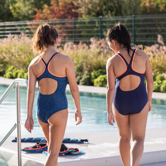 Badpak voor aquafitness Lou Roni blauw