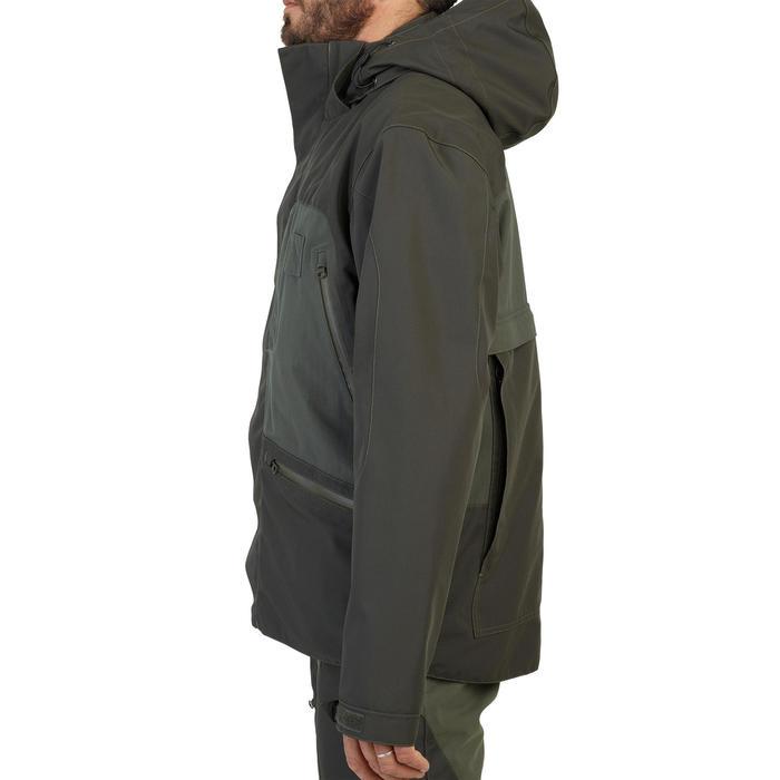 Veste chasse imperméable renfort 540 verte